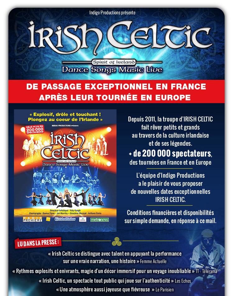 EXCEPTIONNEL - Irish Celtic en version THEATRE de retour en France
