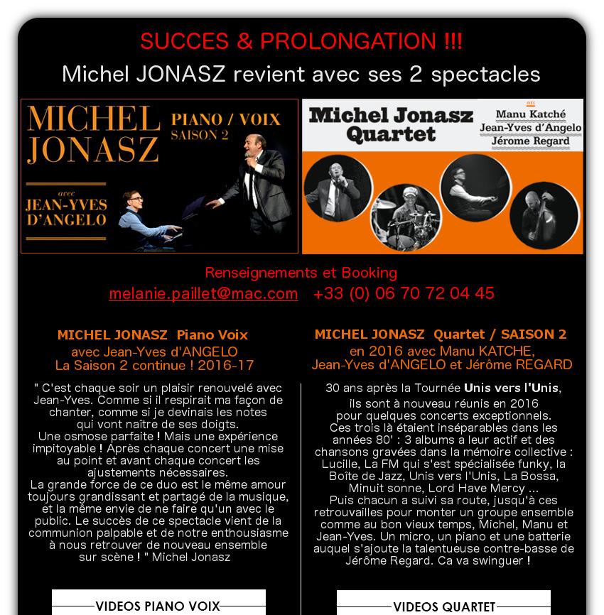 MICHEL JONASZ - Renseignements et Booking : melanie.paillet@mac.com