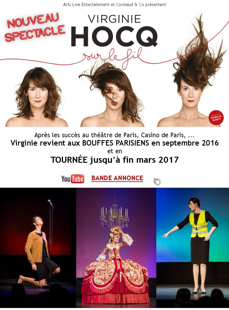 Virginie HOCQ – INVITATION spectacle et en TOURNEE - BANDE ANNONCE : Cliquez ICI