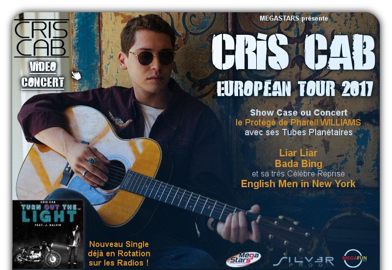 Cris CAB TOURNEE EUROPEENNE 2017 - VIDEO CONCERT : cliquez ICI
