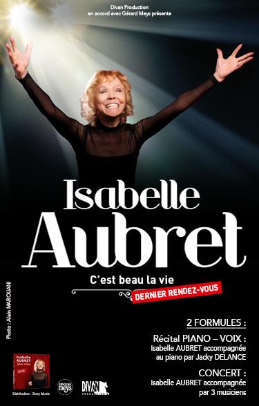 Isabelle AUBRET TOURNEE D'ADIEU