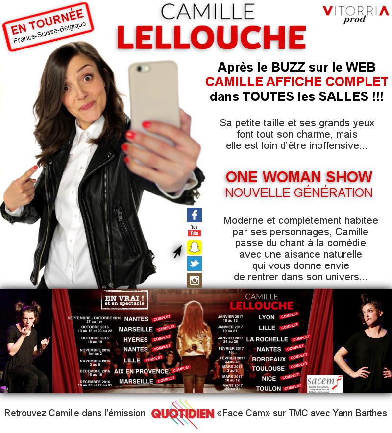 Camille LELLOUCHE en TOURNEE - Cliquez ICI