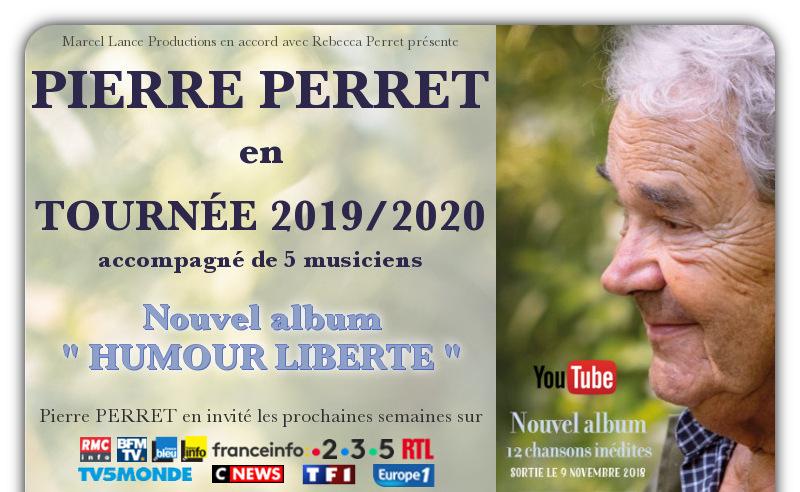 Pierre PERRET en TOURNEE avec son Nouvel ALBUM