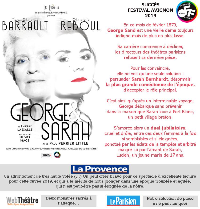 Marie Christine Barrault/Christelle Reboul-George Sand rencontre Sarah Bernhardt