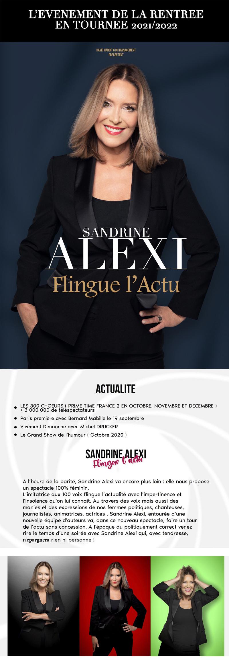 Sandrine ALEXI Flingue l'Actu en TOURNEE 2021/2022